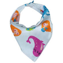 Baby bibs High quality triangle double layers cotton bib feeding Cartoon Character Print baby bandana bibs dribble bibs(China)