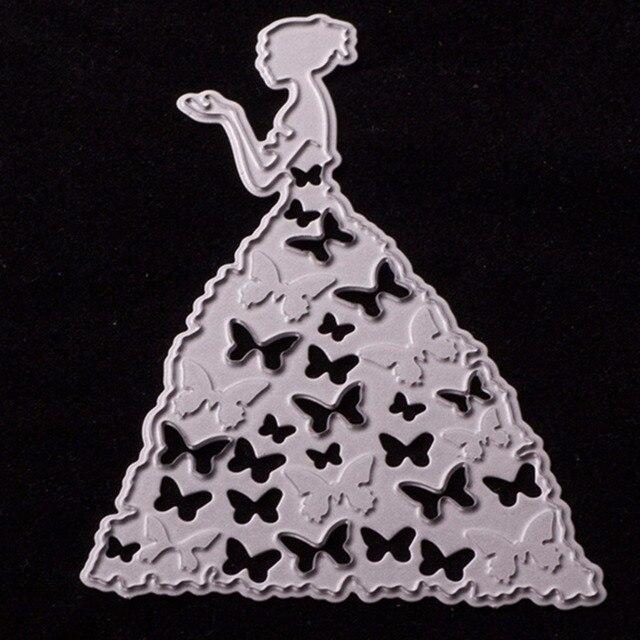 Aliexpress Com Buy Metal Cutting Dies Wedding Dress Girl Paper