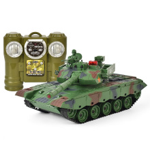 Electronic RC Tank Remote Control Off-road 1/20 9CH 27Mhz Infrared Cannon & Emmagee Music LED Military Model For Boys