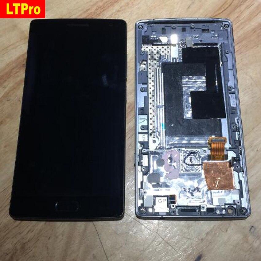 LTPro calidad superior A2001 pantalla LCD pantalla táctil digitizador Asamblea con marco para Oneplus dos/para Oneplus 2 A2003 piezas del teléfono
