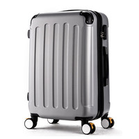 24 Inch Luggage Suitcase Girl Trolley Case Caster Student Suitcase Male Hard Box Password ABS PC