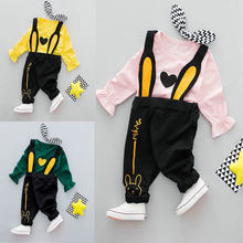 2018 Baby Girl Boy Cute Fashion 2pcs Clothing Set Kids Boys Girls Cotton T shirt+ Pants Suits,Infant Outfit