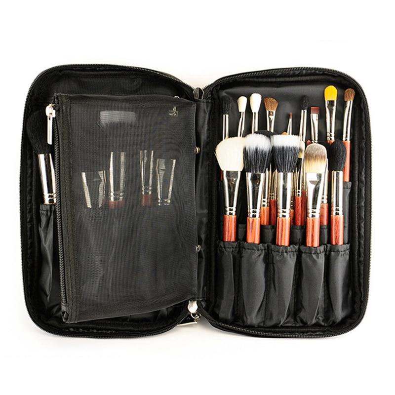 Us 12 25 Professional 25pcs Makeup Brush Holder Bag Portable Make Up Handbag Cosmetic Brushes Organizer Pouch Pocket In Eye Shadow