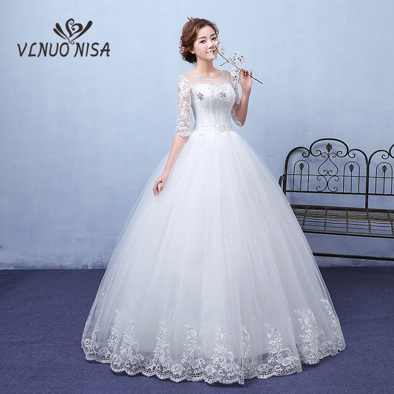 Simple Wedding Dresses Vogue: New Arrival Fashion Simple White Wedding Dress Lace Up