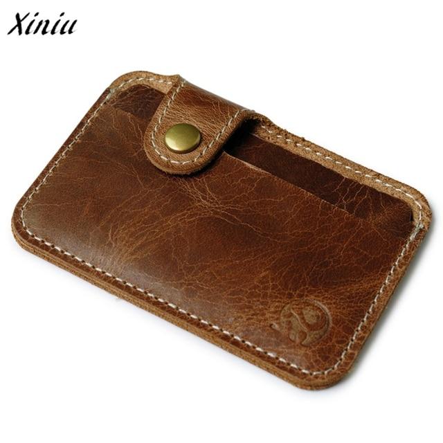 d9eb071c0e6d wallet men luxury brand Credit Card wallets brown Slim Mini Wallet ID Case  Purse Bag Pouch