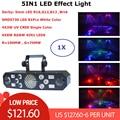 5IN1 Flash láser estroboscópico mariposa Derby luces 6X8 W RGBW 4IN1 DMX Luz de Disco DMX controlador de luz láser dj decoración boda