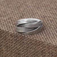 Original Handmade Braided Rings For Men And Women Vintage Type 925 Sterling Silver Jewelry Bijouterie Fine