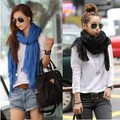 2014 Free shipping women Pure color scarf cotton long fold scarf cape beach towel large shawl wraps F4190