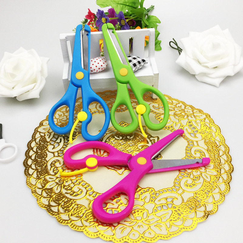1pcs Baby Handmade Safety Plastic Scissors Cute Color Learning Education Toys For Kindergarten Children Arts And Crafts Kid Toys