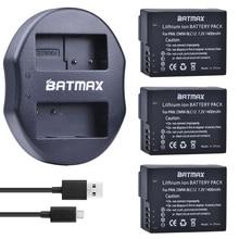 3Pcs DMW-BLC12 BLC12E BLC12PP BLC12 Batteries + USB Dual Charger for Panasonic Lumix FZ1000,FZ200,FZ300,G5,G6,G7,GH2,DMC-GX8