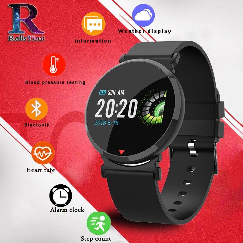 RollsTimi Couleur Écran Intelligent Montre Étanche Bracelet À Puce M28 IP68 Étanche Bluetooth Fréquence Cardiaque Sang Pression Smartwatch