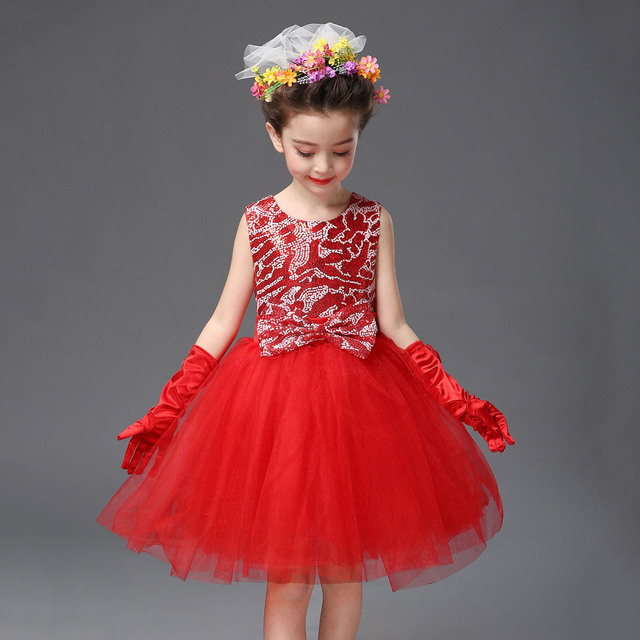 c185b8dfc Kids Sequin Easter Dresses Size 2 3 4 5 6 7 8 9 10 11 12 Years Old ...