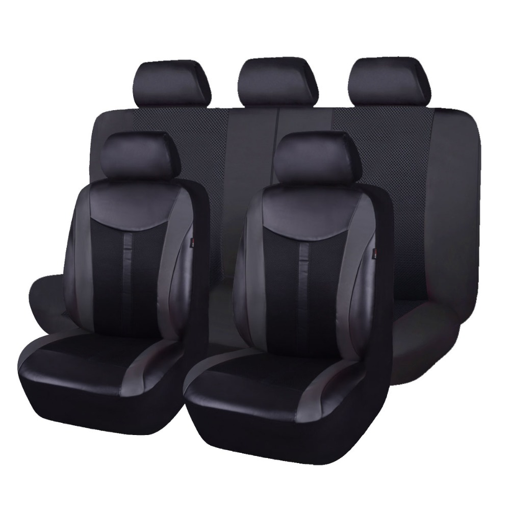 FlyingBanner PU Leather Auto Universal Car Seat Covers Seat Cover For granta priora renault logan peugeot 206 2018new luxury pu leather auto universal car seat covers automobile seat cover for car peugeot 206 for car lada kalina in hot