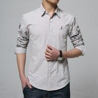 جديد القطن الرجال طويلة الأكمام قميص الأزياء الأعمال الساخنة مبيعات ملابس رجالية ضئيلة مريحة متعددة الألوان اختيار حجم كبير
