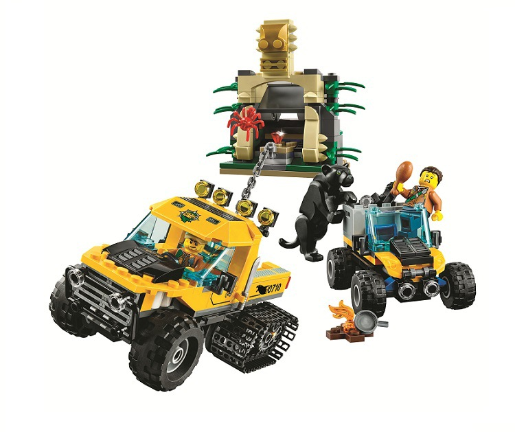LEPIN City Building Blocks Sets Explorers Jungle Halftrack Mission Bricks Classic Model Kids Toys Marvel Compatible Legoe lepin city great vehicles dragster transporter building blocks sets bricks kids model kids toys marvel compatible legoe