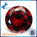 50pcs 5A 0.8-6.0mm Garnet Color Loose Cubic Zirconia CZ Stone Round Shape European Machine Cut Synthetic Gemstone