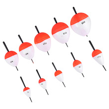 10PCS/Set New Portable Different Sizes Sea Fishing Floats With Sticks Outdoor Fishing Floats Sets High Quality Fishing Accessory