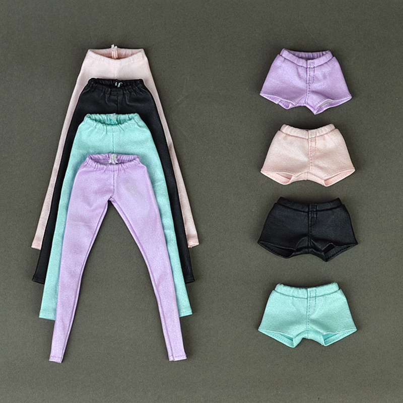 High Quality Elastic Leather Bottoms Pants Trousers For Barbie Doll Clothes Fashion Outfit For 1/6 BJD Dolls Accessories 30 new styles festival gifts top trousers lifestyle suit casual clothes trousers for barbie doll 1 6 bbi00636