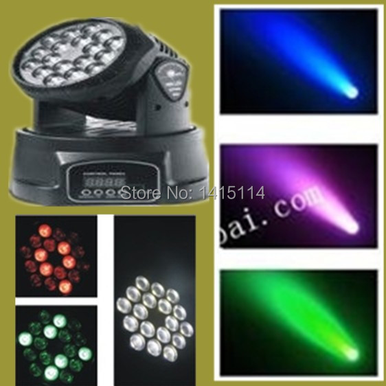 Guangzhou dj lights 18pcs 3W RGB led wash moving head light
