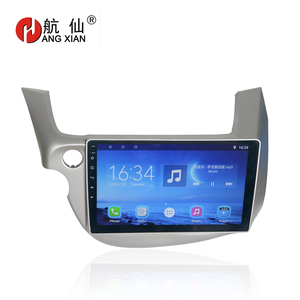 Hang xian 10 1 quot Quad Core Android 7 0 Car DVD Player For Honda Fit 2009 2013 car radio multimedia GPS Navigation BT wifi SWC in Car Multimedia Player from Automobiles amp Motorcycles