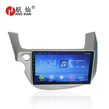 цена на Hang xian 10.1 Quad Core Android 7.0 Car DVD Player For Honda Fit 2009-2013 car radio multimedia GPS Navigation BT,wifi,SWC