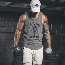 Brand New Gyms Tank Top Mens Bodybuilding Sleeveless shirt Casual Shirts men's Golds Stringer Fitness Singlets Muscle Tanktop