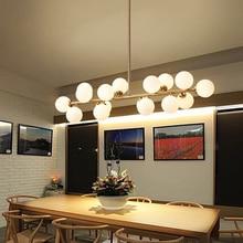 Moden art pendant light gold/black magic bean g4 led lamp living dining room shop glass pendant lamp fixtures 110-240V