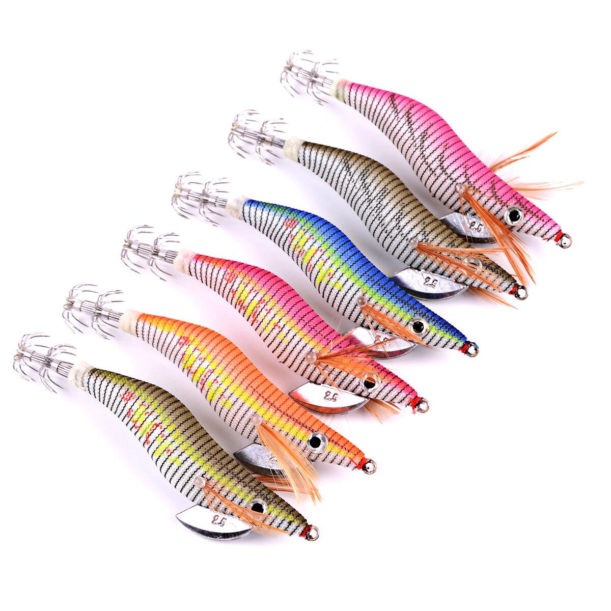 6 шт. Блесен рыбалки приманка экспортируется в США Японии Рынок рыболовные снасти 6 цветов 5,5 г-21,5 г, 8 см-15 см 2,0 #-4,0 # крючки ...
