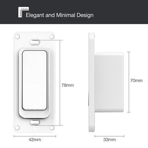Image 5 - Interruptor de luz de pared inteligente con WiFi para el móvil, No se necesita Hub de Control remoto con aplicación móvil, compatible con Amazon, Alexa, Google Home, IFTTT