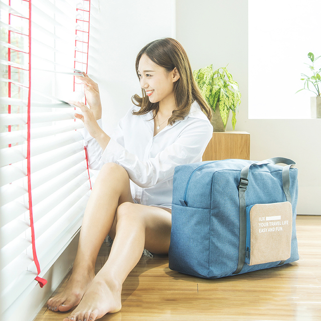 a72b03c6b IUX Fashion WaterProof Travel Bag Large Capacity Bag Women nylon Folding Bag  Unisex Luggage Travel Handbags