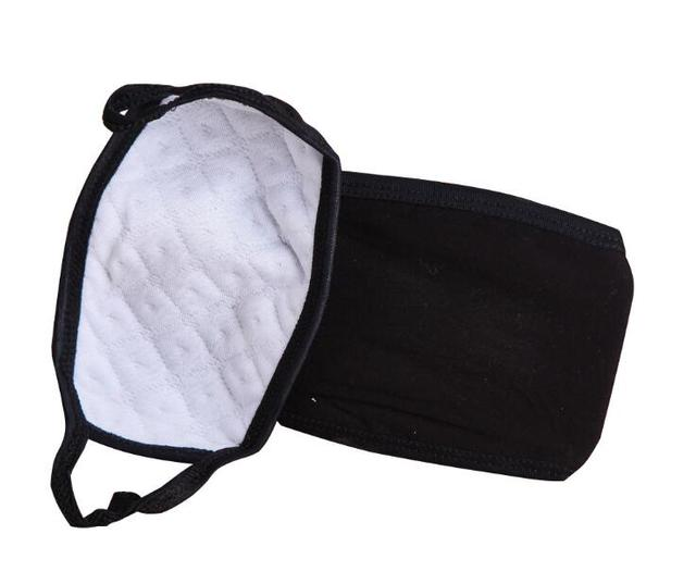 2pc Mouth Mask Cotton PM2.5 Anti Haze Black Dust Mask Nose Filter Windproof Face Muffle Bacteria Flu Fabric Cloth Respirator M40 5