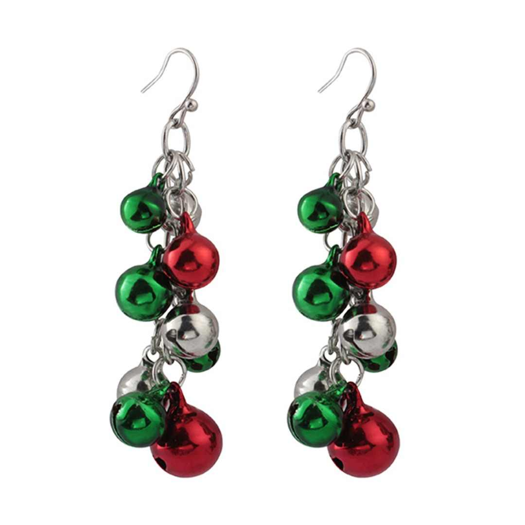 Shellhard Mixed Color Jingle Bells Long Earring 2018 Christmas Women Girls Dangle Drop Earring Fashion Jewelry New Year Gifts