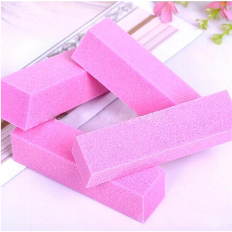 Cheap 5 Pcs/lot Women Buffer Buffing Sanding Files Block Acrylic Nail Art Tips Manicure Tools Pink Wholesale 9.6 x 2.5 x 2.6 cm