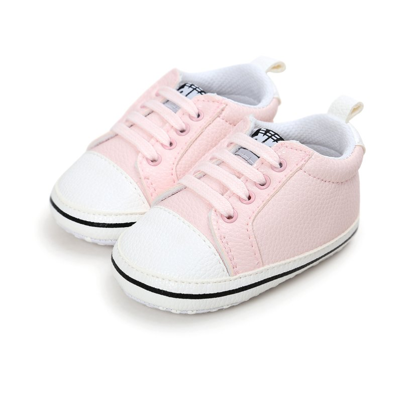 New Classic Solid Sports Shoes Pu Leather Baby Moccasins Infants Baby Toddler Non-slip Newborn Baby Shoes 0-18M