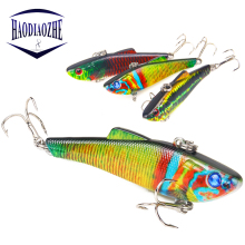 Купить с кэшбэком HAODIAOZHE 1Pcs/lot High Quality VIB Fishing Lure 6.5cm 6.6g 3D Eyes Crankbait Iscas Artificiais Hard Bait Fishing Wobblers YU85