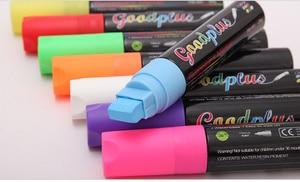 Image 3 - Flashcolor Highlighter bolígrafos marcadores para Pizarra de 15mm, líquido, punta ancha para tablero de escritura LED, 8 uds, rotulador para ventana borrable no tóxico