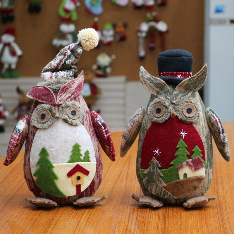 Creative Christmas Ornaments White/Red Owl New Year Gift ...
