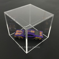 Acrylic 5 Sided Display Cube Jewelry Pedestal Art Sculpture Stand Display Box Column 10 x 10 x 10