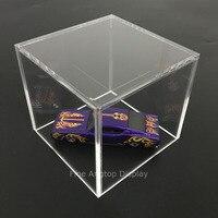 Acrylic 5 Sided Display Cube Jewelry Pedestal Art Sculpture Stand Display Box Column 10 x 10 x 10