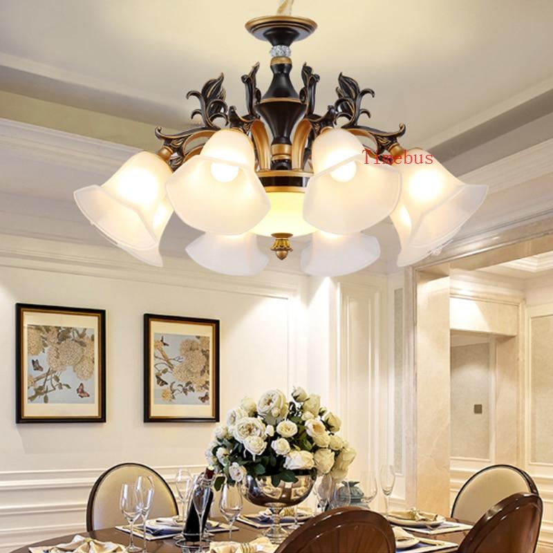 Living Room Lamp Black Bronze Chandelier Lighting Home Dining Study