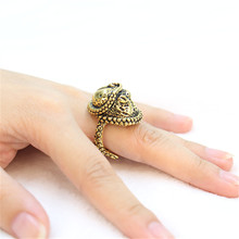 Fashion punk style octopus ring, adjustable antique ring designed for men