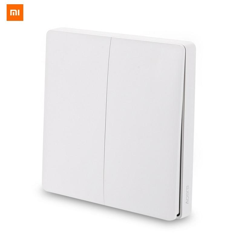 Original Xiaomi Aqara Wall Switch Smart Light Control Smart Switch Wifi 2.4GHz Wireless Double Key Remote Control by Mi Home App цена и фото