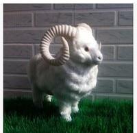 simulation animal about 28x22cm white goat toy polyethylene & furs handicraft home Decoration toy gift k0440