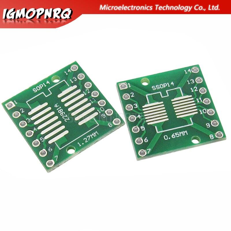 50PCS 14 Pin 14P Integrated Circuit IC Sockets Adaptor Solder Type DIP14