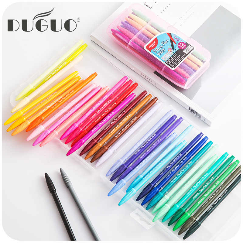 DUGUO cute stationery monami 3000 candy color  hand gel gel pen Korea stationery pen fiber color pen monami pens kawaii supplies