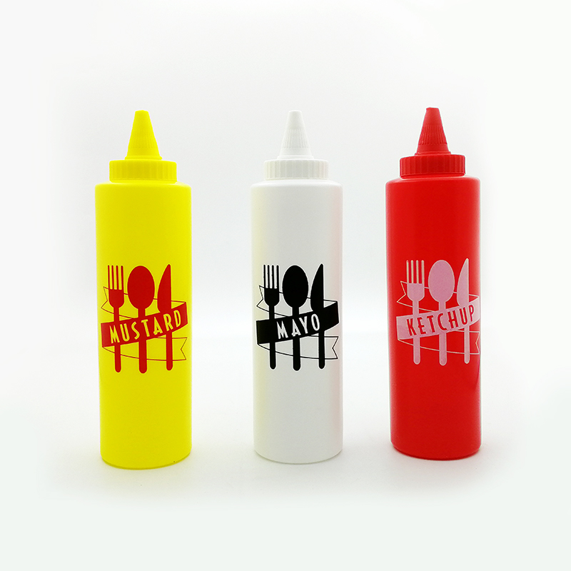 PATRIOTIC CONDIMENT SQUEEZE BOTTLE  W// Sanitary Cap  Great for Mustard,Ketchup