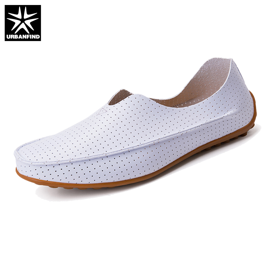URBANFIND New Summer Shoes Men Comfortable Soft Loafers Big Size 39-47 PU Leather Man Breathable Slip-on Footwear 6 Colors urbanfind men fashion leather loafers big size 38 48 comfortable soft man slip on driving shoes 5 colors fur no fur 2 styles