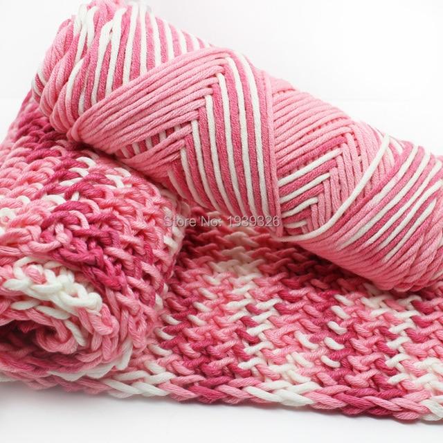 4 Pcs Mixed Color Baby Bamboo Cotton Yarn Natural Soft Milk Thick