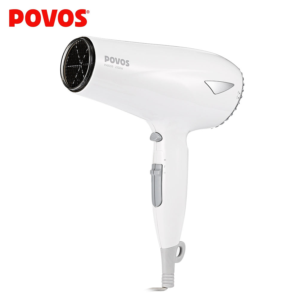 POVOS Electric 2200W Hair Blow Dryer Travel Home Use Compact Hair Blower Styling Tools Hairdryer With 2 Airflow Concentrators povos pentium ph9022i hair dryer constant temperature 2200w