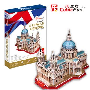 Candice guo! 3D puzzle toy CubicFun architecture 3D paper model jigsaw game St Pauls Cathedral
